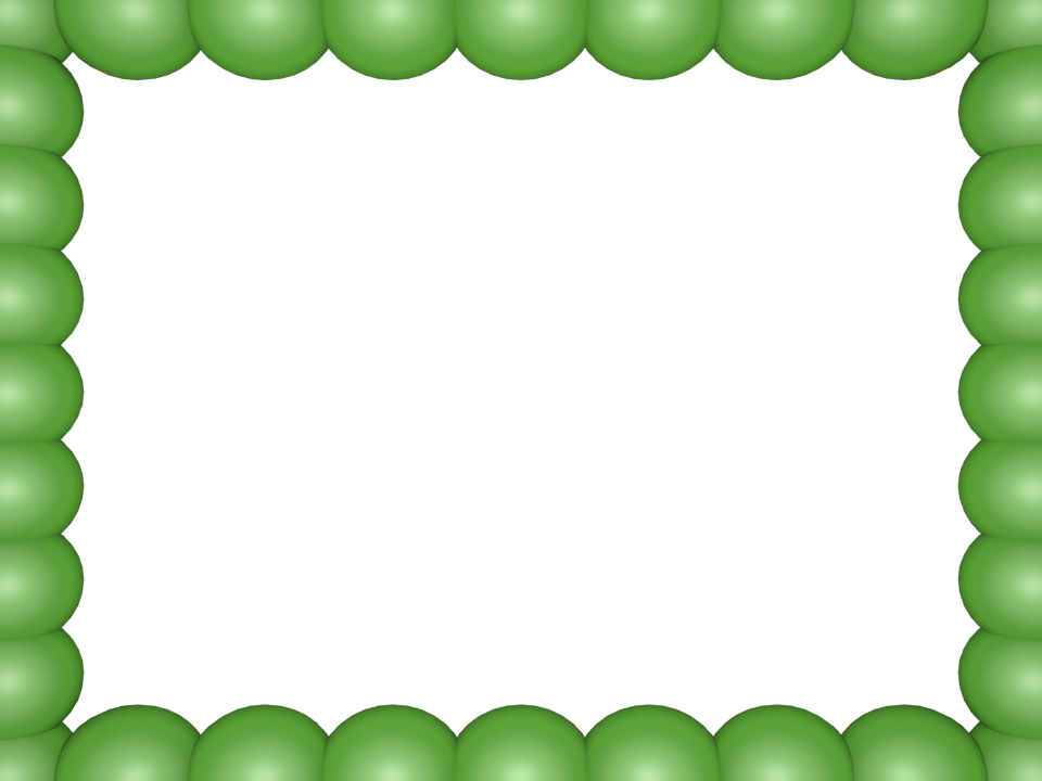 Bubbly Pearls Border in Light Green color, Rectangular perfect for Powerpoint