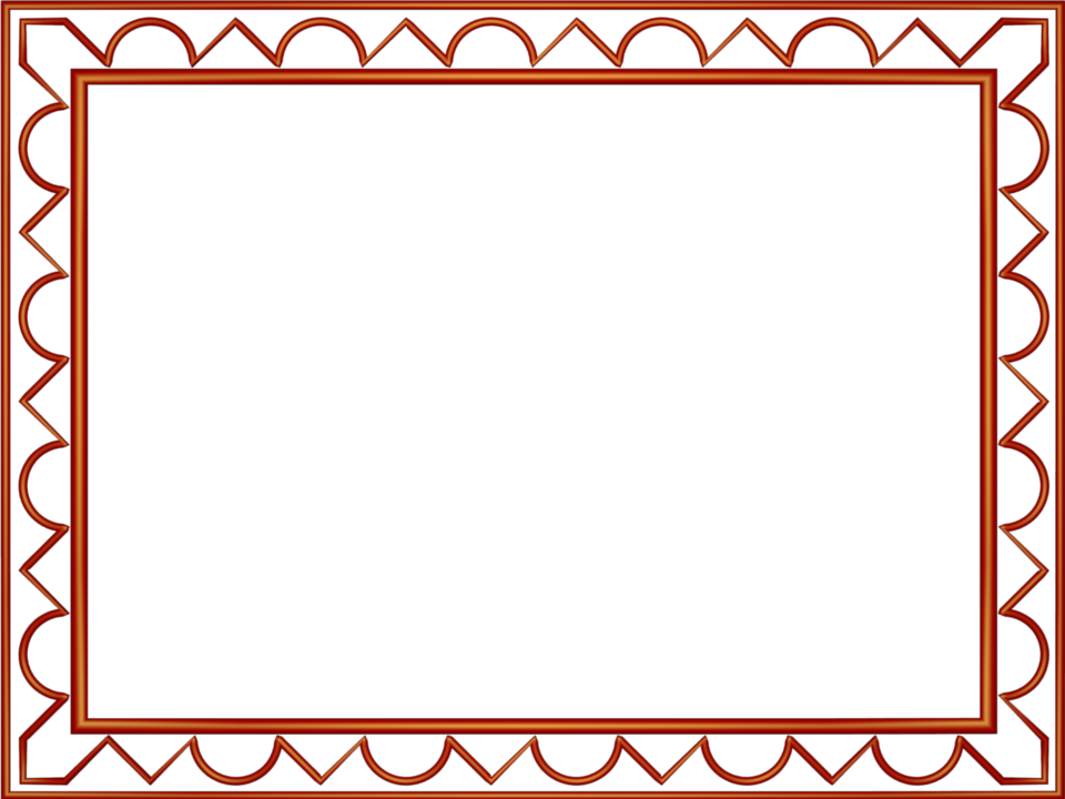 Artistic Loop Triangle Border in Red color, Rectangular perfect for Powerpoint