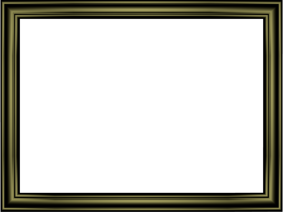 Elegant Embossed Frame Border in Shiny Black color, Rectangular perfect for Powerpoint