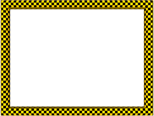 Funky Checker Border in Yellow Black color, Rectangular perfect for Powerpoint