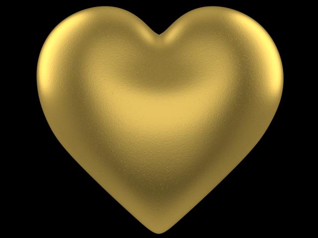 Gold 3d Heart