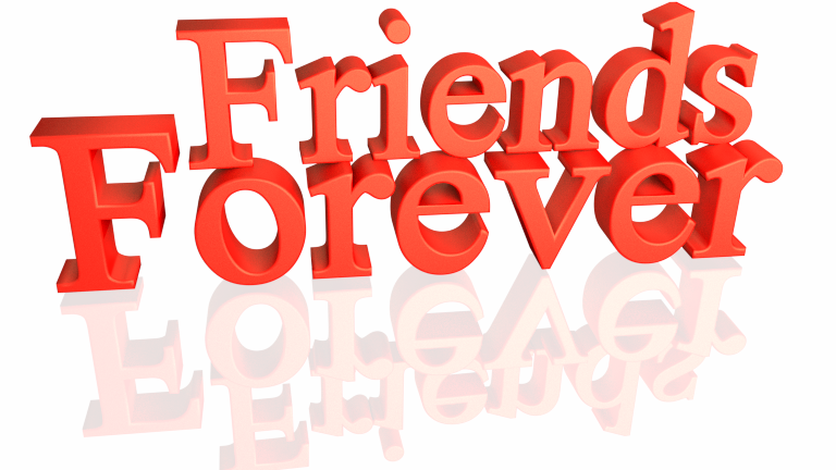 Friends Forever 3d text clip art